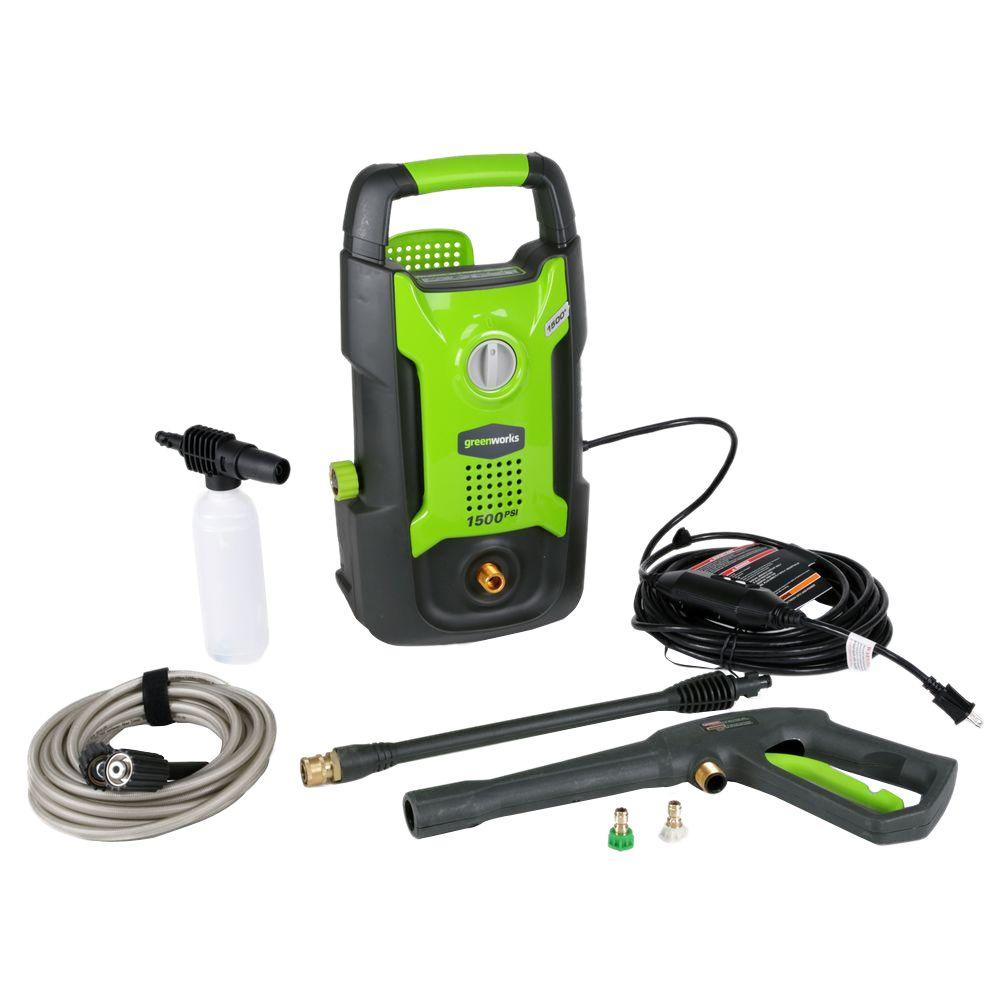 Greenworks 1500 PSI 13 Amp 1.2 GPM Electric Pressure Washer