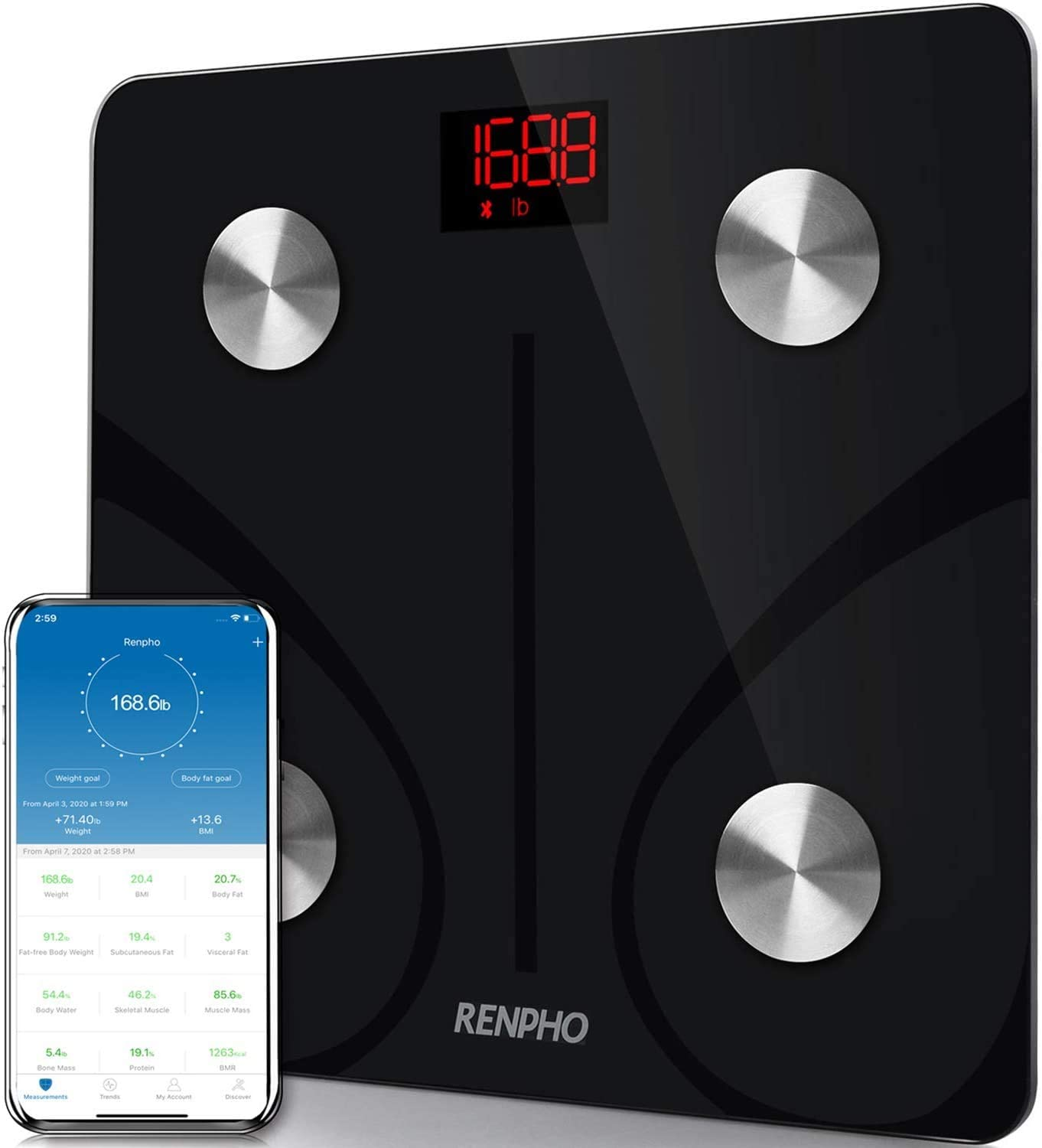 RENPHO Bluetooth Smart BMI Digital Body Fat Scale