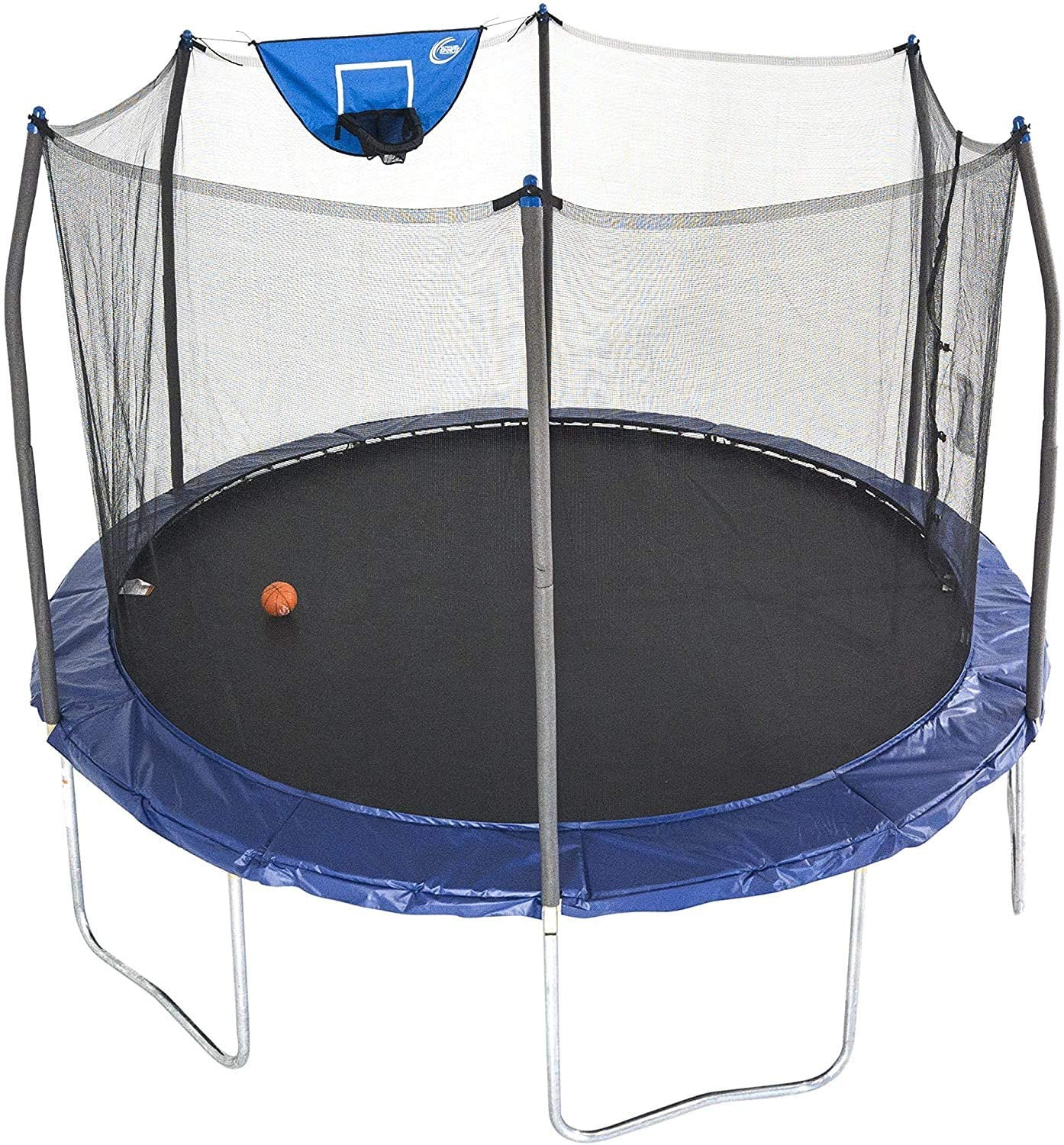 Skywalker Jump N' Dunk Enclosure Net Trampoline, 12-Feet