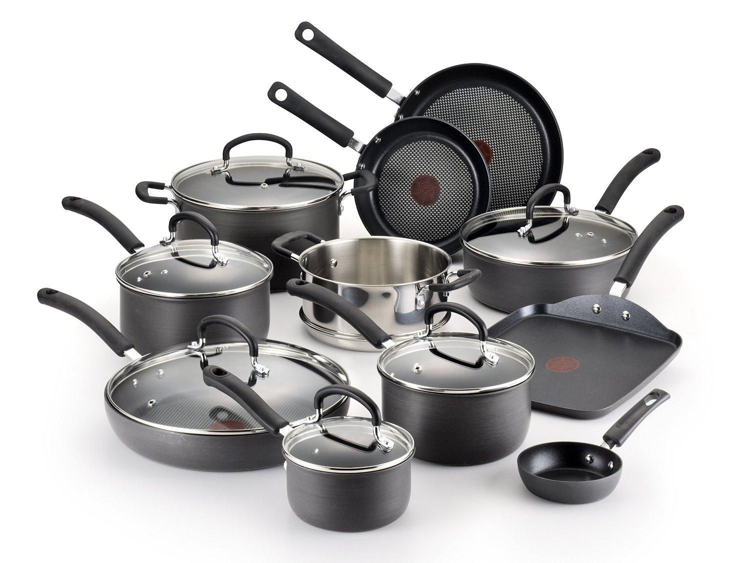 T-fal Hard Anodized Nonstick Cookware Set, 17-Piece