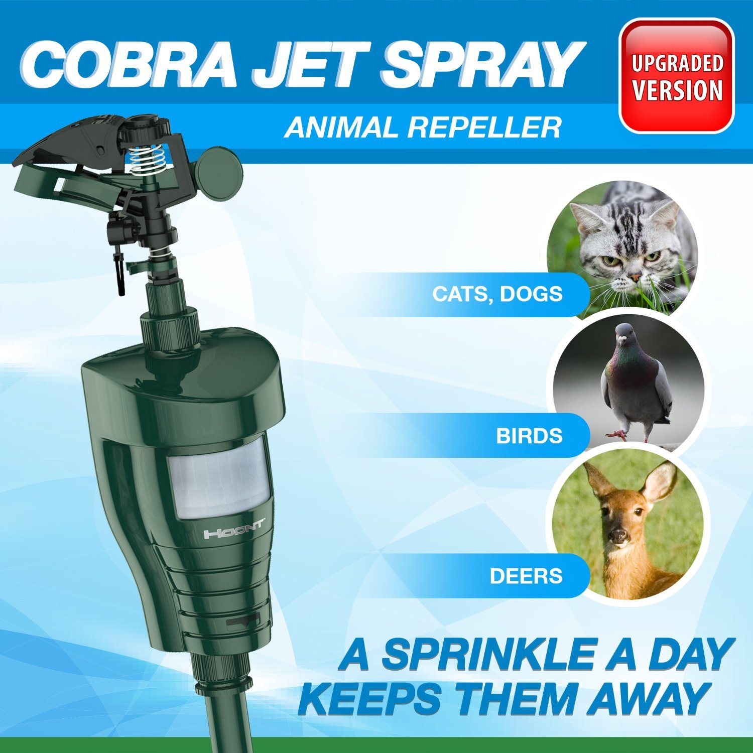 Hoont Cobra Powerful Outdoor Water Jet Blaster Animal Pest Repeller