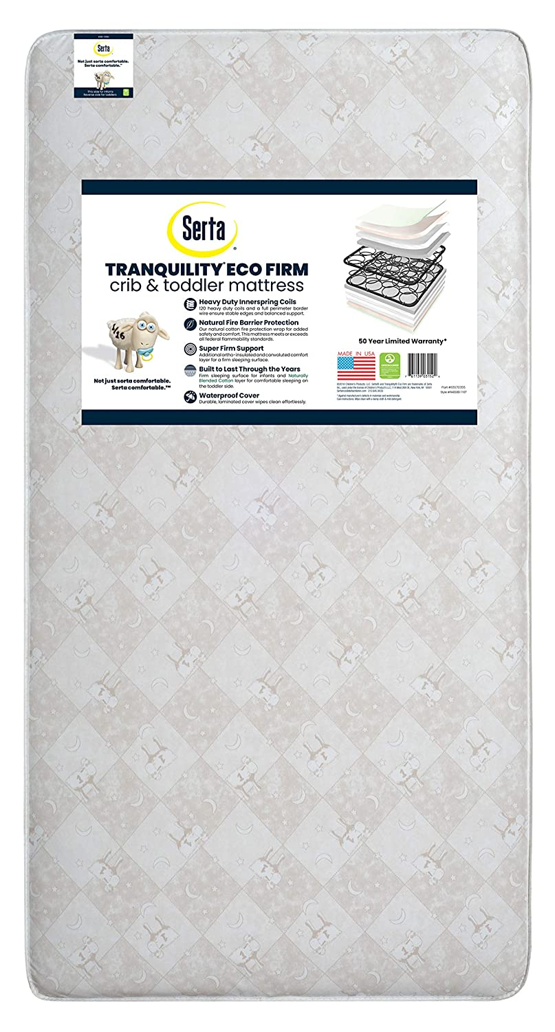Serta Tranquility Eco Firm Innerspring Crib Mattress