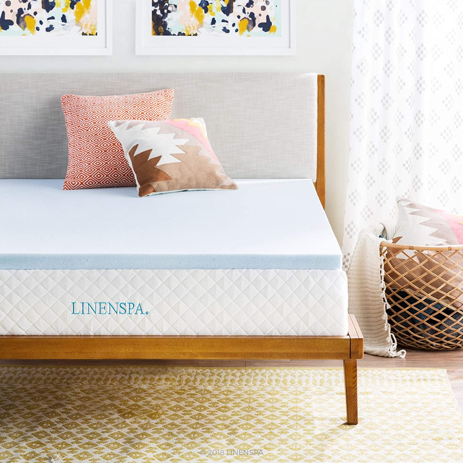LINENSPA 2-Inch  Memory Foam Mattress Topper