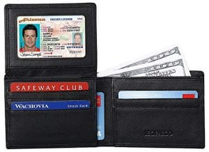 Lavemi RFID Blocking Leather Bifold Wallet