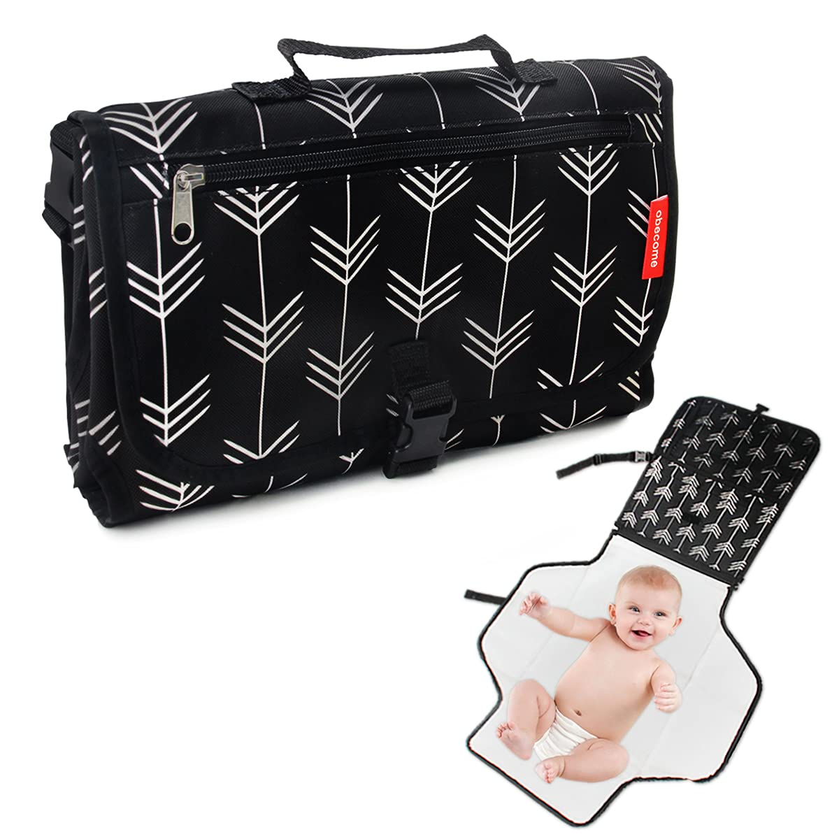 Obecome Portable Baby Diaper Changing Pad Kit