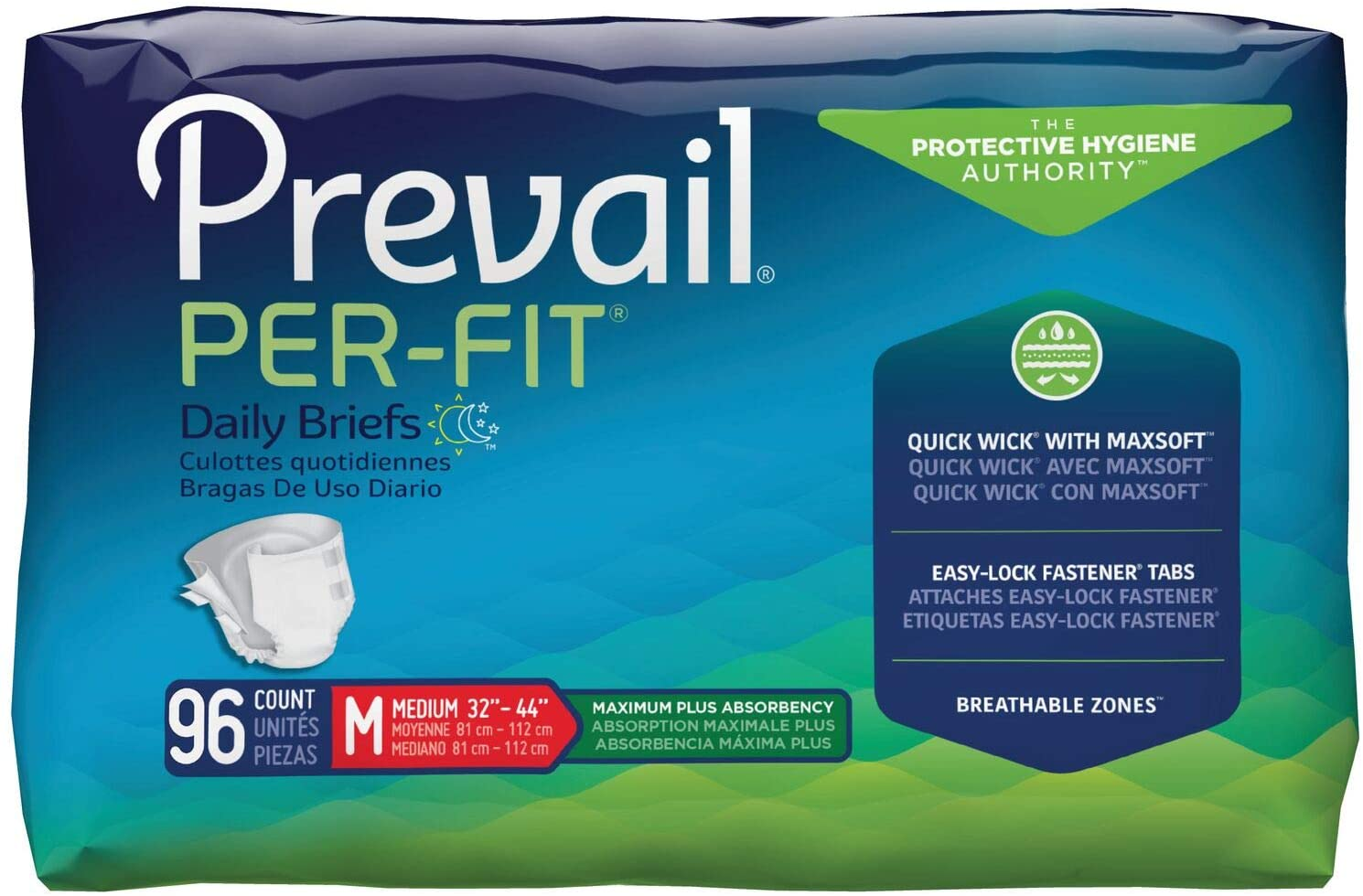 Prevail Per-Fit Maximum Absorbency Incontinence Briefs