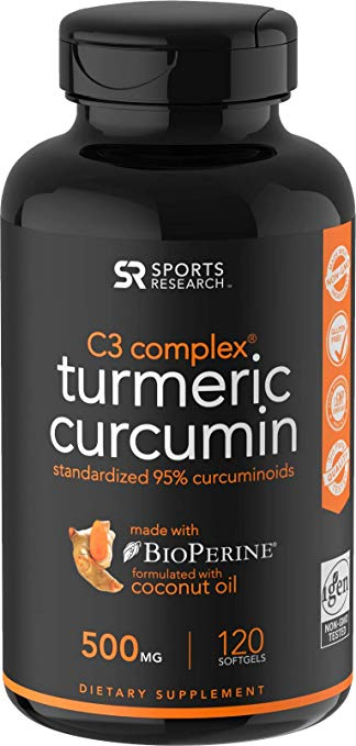 Sports Research Turmeric Curcumin C3® Complex 500mg