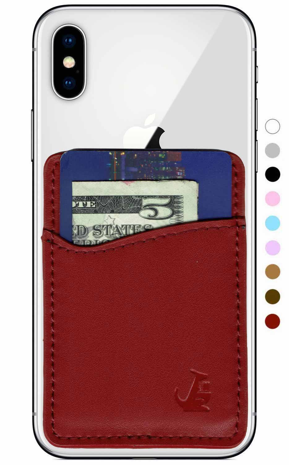 Wallaroo Premium Leather Phone Card Holder