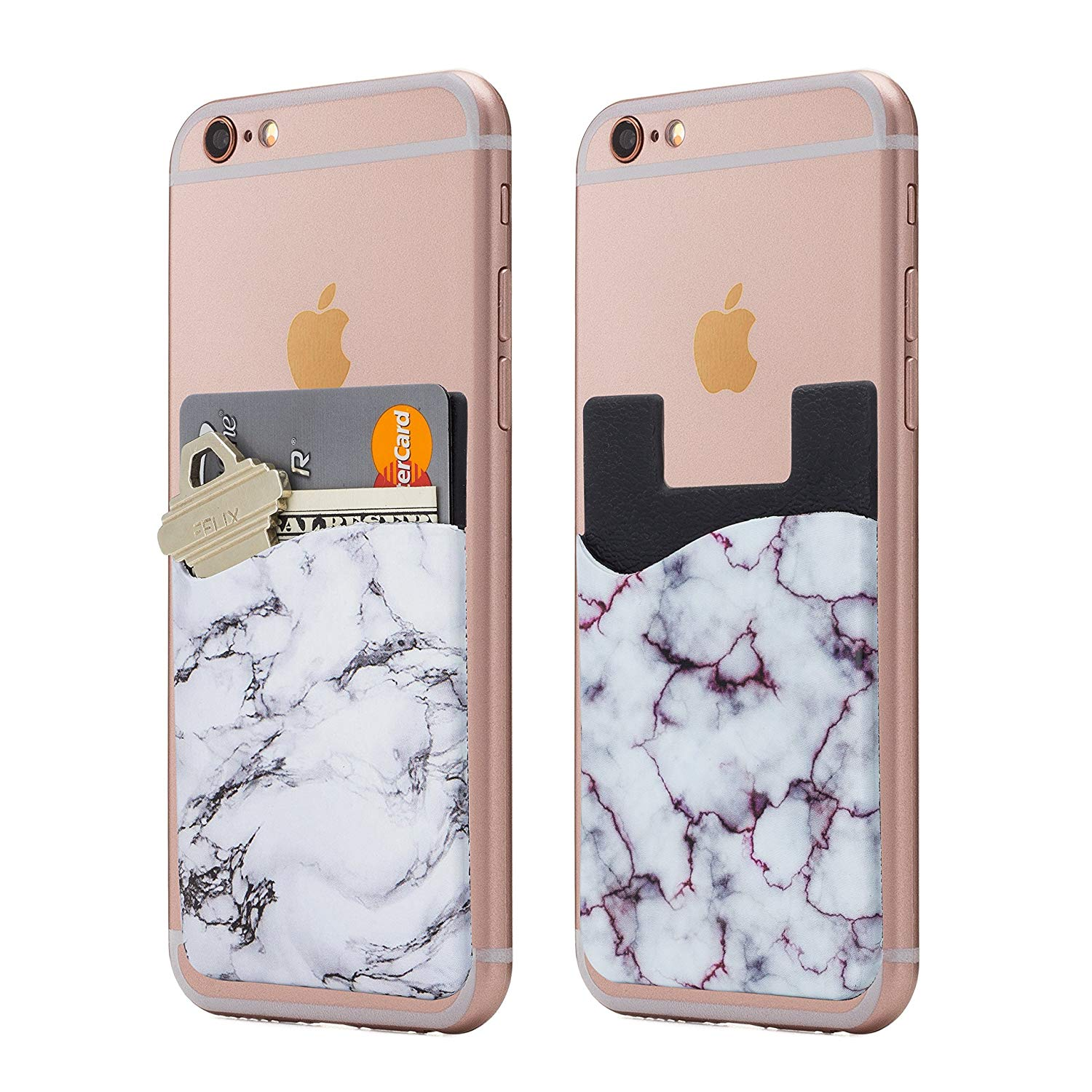 Cardly Marble Cell Phone Stick on Wallet Card Holder