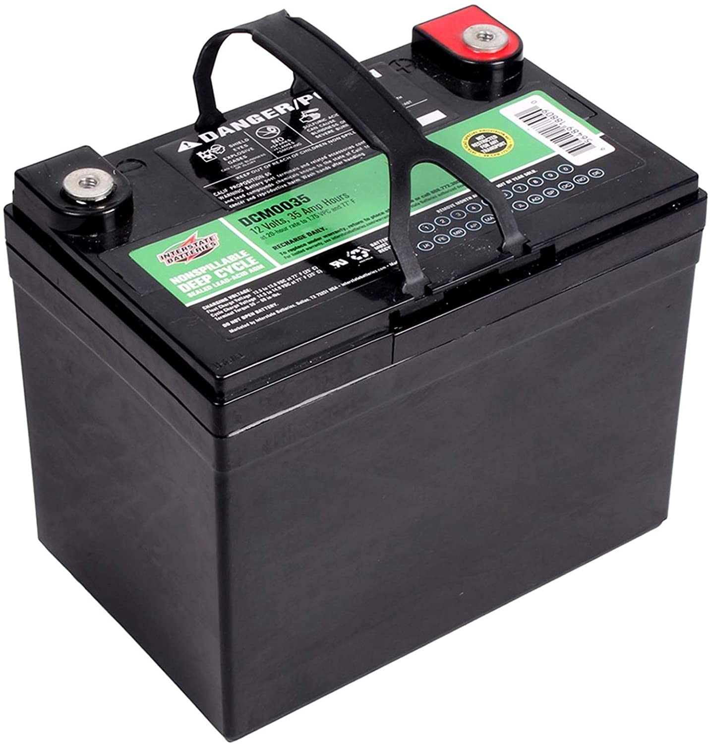 Interstate Batteries DCM0035 Sealed Lead Acid AGM Car Battery