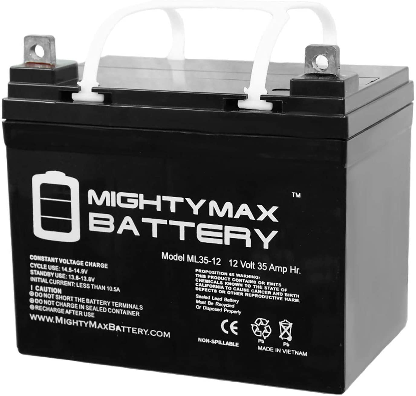 Mighty Max ML35-12 Deep Cycle AGM Solar Car Battery