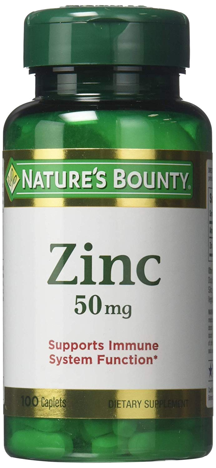 Nature's Bounty Zinc Caplets (100 ct)