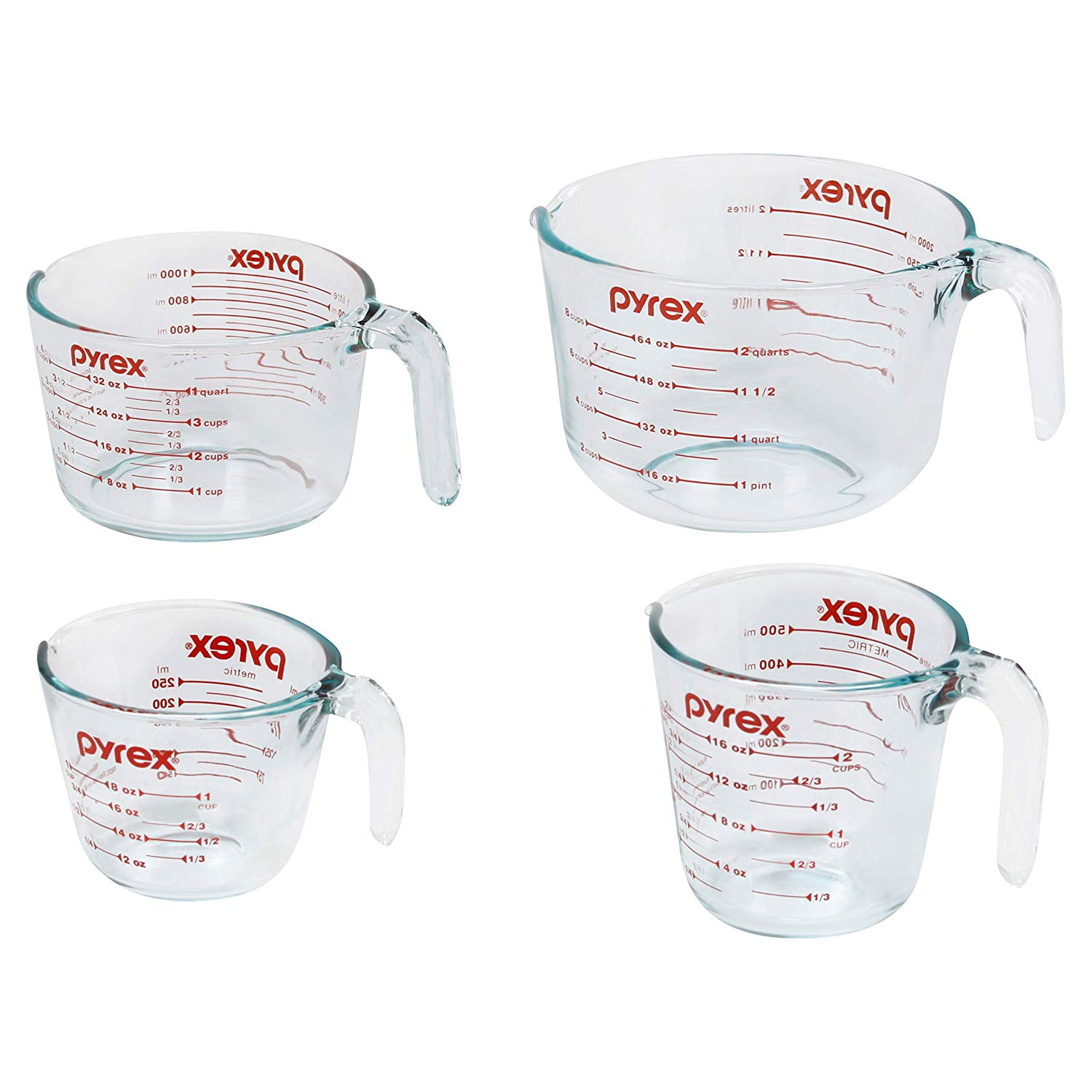 Pyrex Glass Measuring Cup Set, 4-Piece
