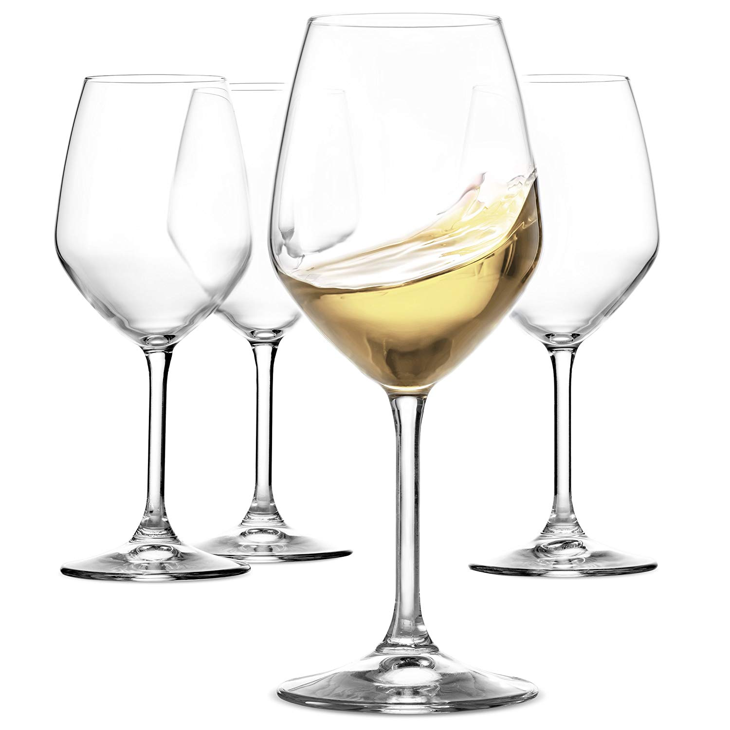 Paksh Novelty Italian White Wine Glasses 15-oz