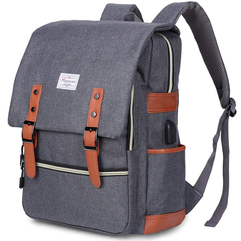 Modoker Vintage Laptop Backpack