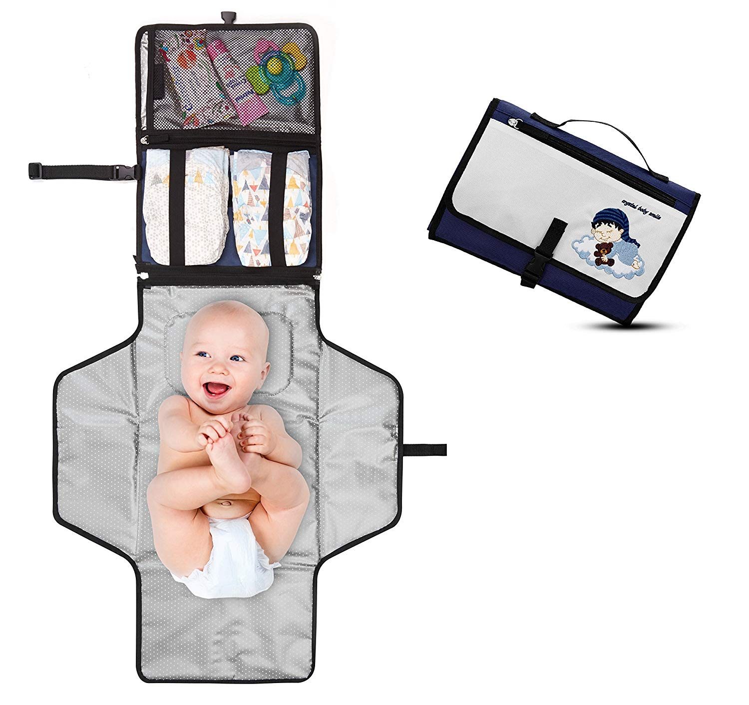Crystal Baby Smile Portable Changing Pad