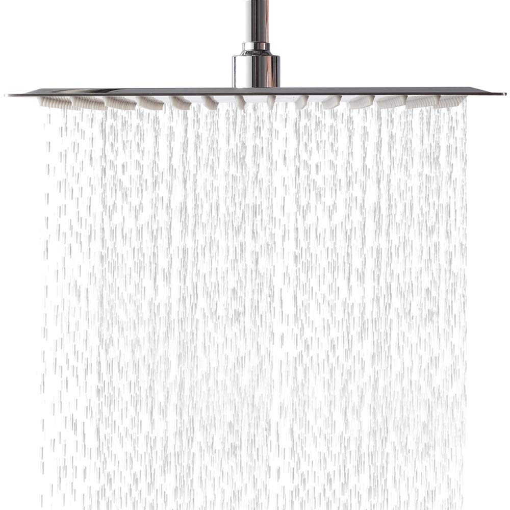 LORDEAR Square Adjustable Rainfall Shower Head