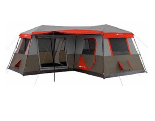 Ozark Trail 12-Person 3 Room Instant Cabin Tent, 16×16-Feet