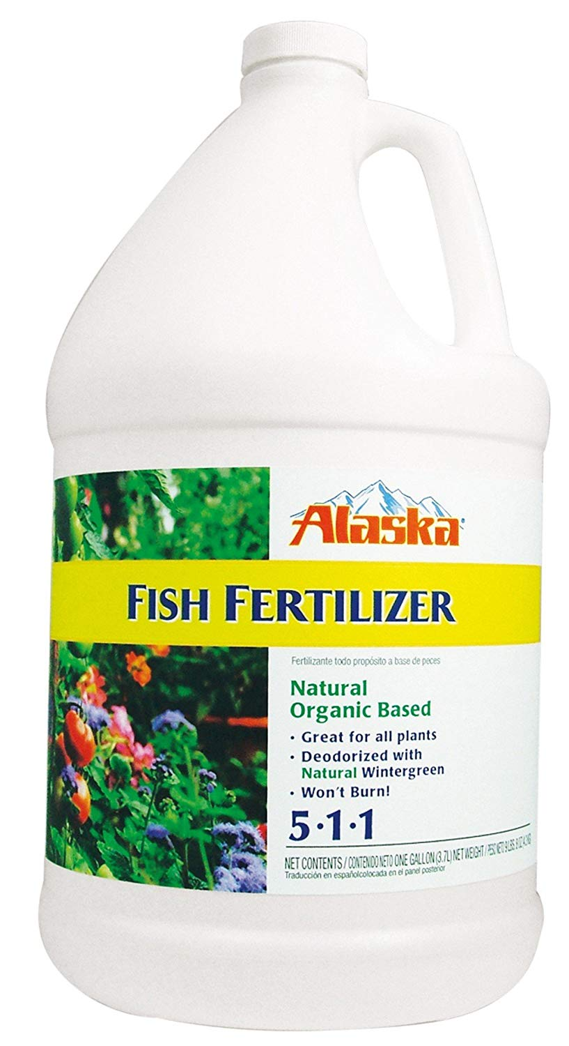 Alaska Fish Emulsion Fertilizer 5-1-1 Concentrate 1 Gallon