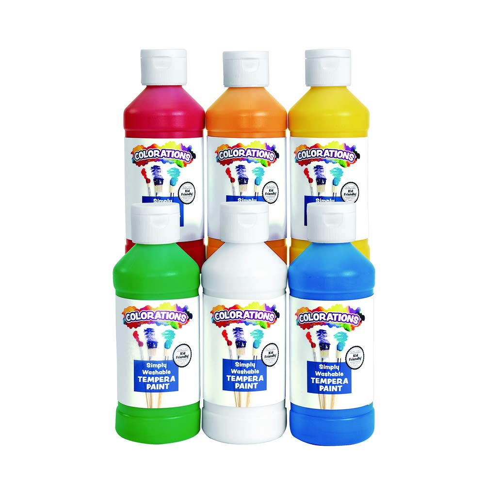 Colorations Simply Washable Tempera Paint, 6 ct