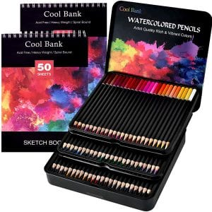 Coolbank Watercolor Pencils Set, 72 ct