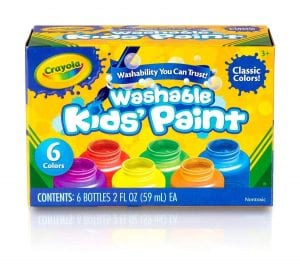 Crayola Washable Kids Paint, 6ct