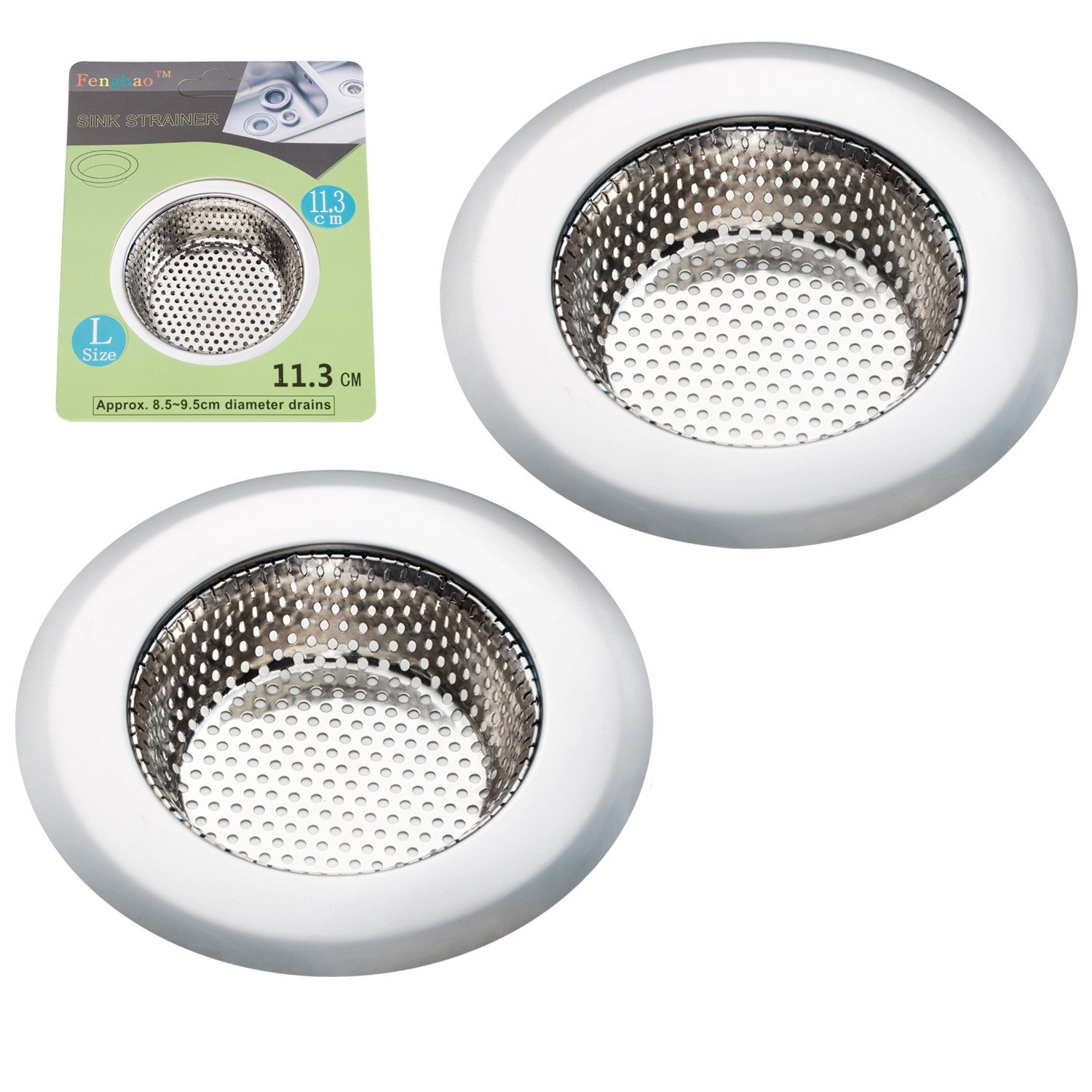 Fengbao 4.5-Inch Kitchen Sink Strainer Basket, 2-Pack