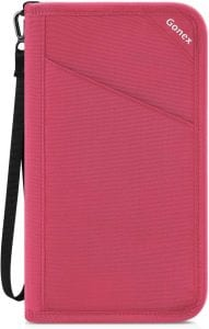 Gonex RFID Blocking Removable Wristlet Strap Passport Travel Wallet