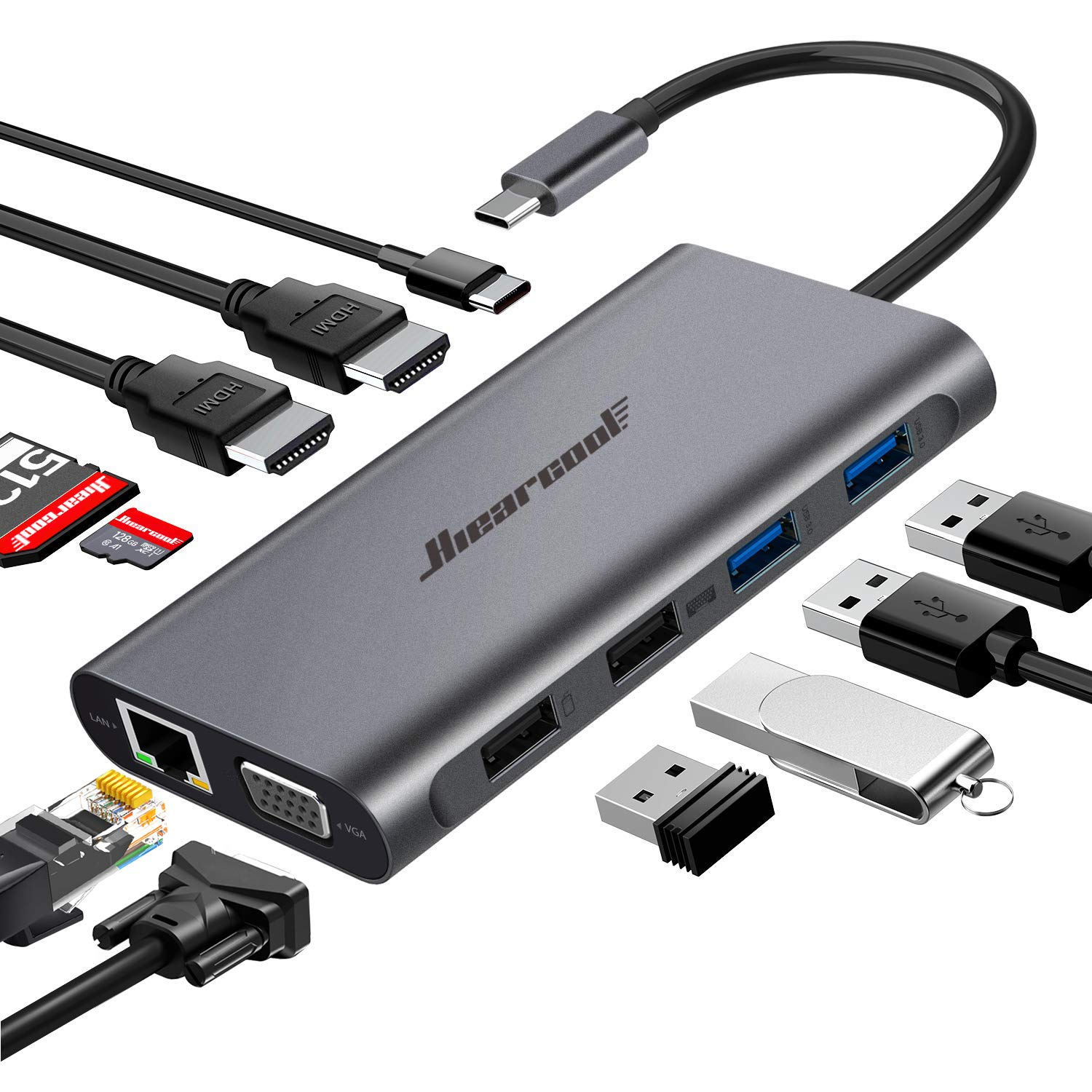 Hiearcool Laptop Thunderbolt Docking Station