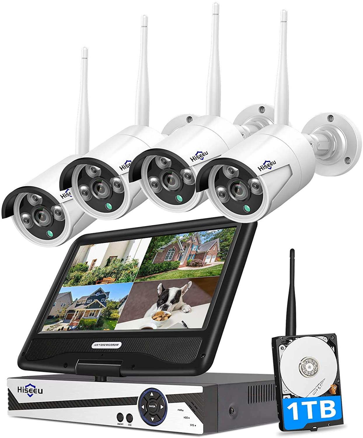 Hiseeu Wireless Home Security Camera System
