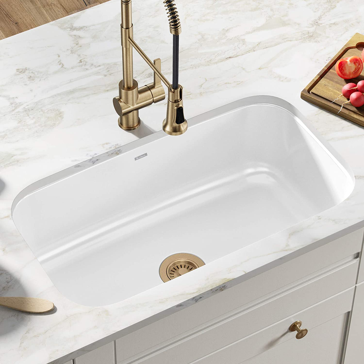 Kraus Single Bowl Kitchen Sink, 31.5″