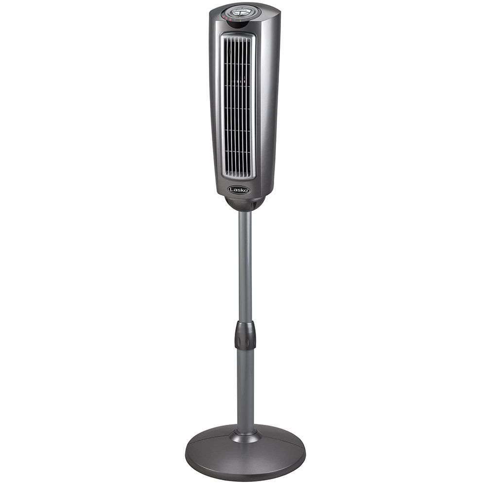 Lasko 2535 Space-Saving Oscillation Pedestal Tower Fan, 52-Inch