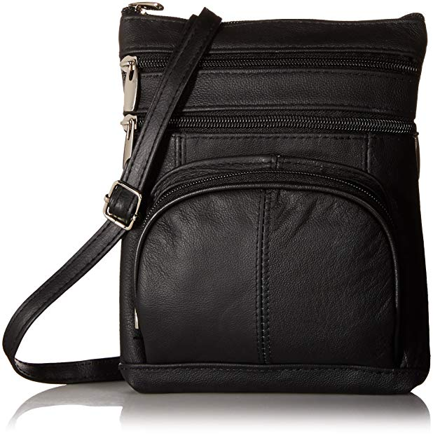 Roma Leathers Genuine Leather Crossbody Bag