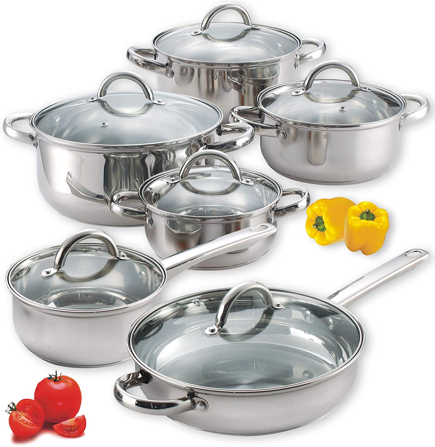 Cook N Home NC-00250 Cookware Set, 12-Piece