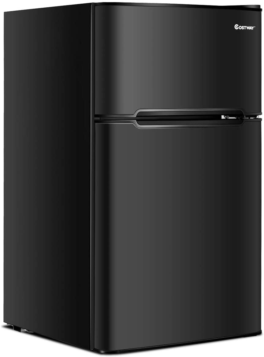 Costway Compact Refrigerator With Freezer