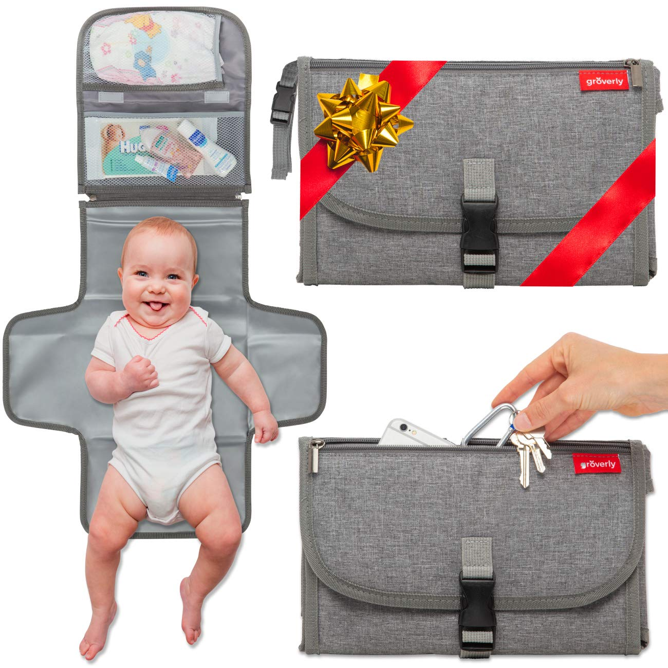 Groverly Portable Diaper Changing Pad