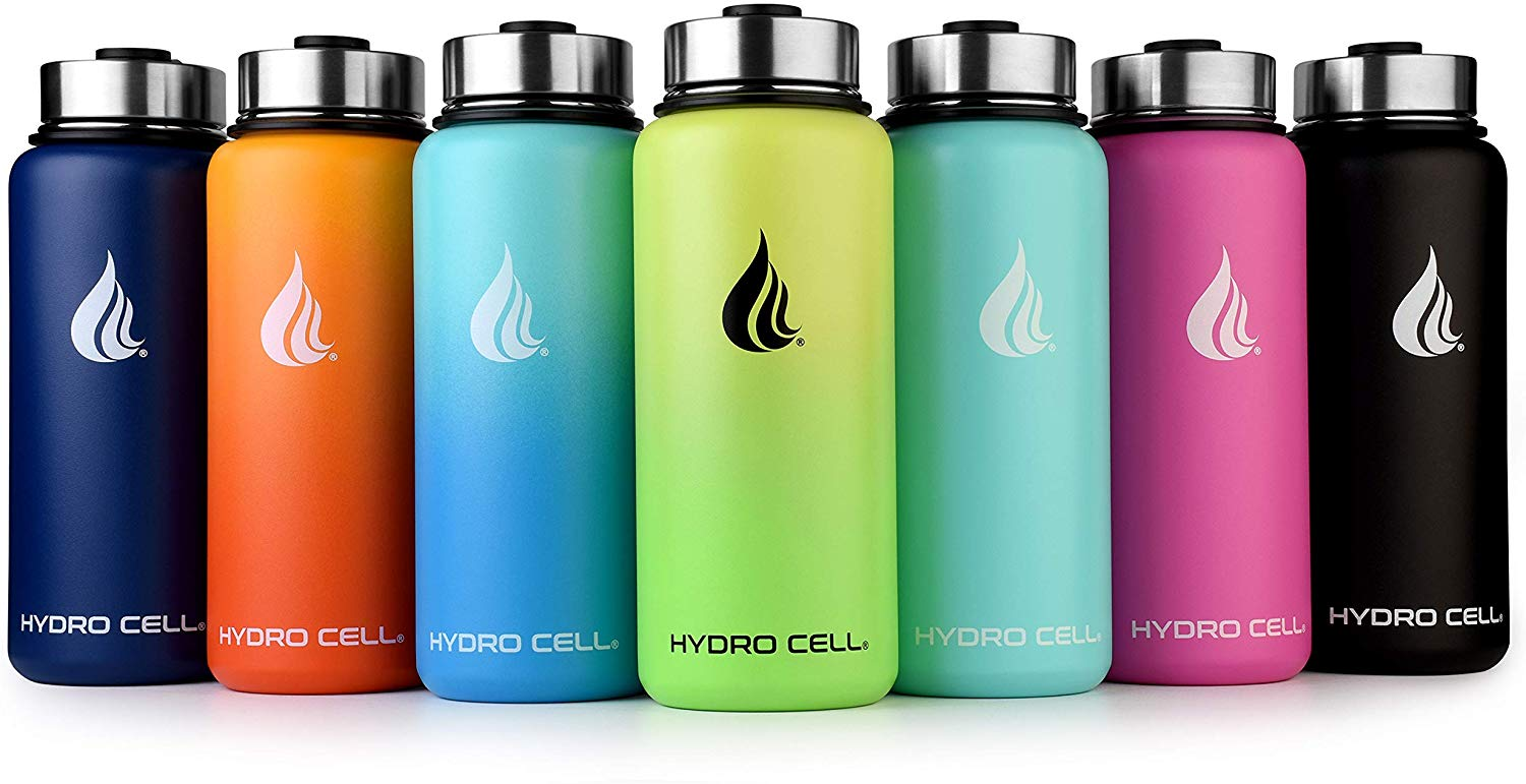 HYDRO CELL Stainless Steel Reusable Water Bottle With Straw