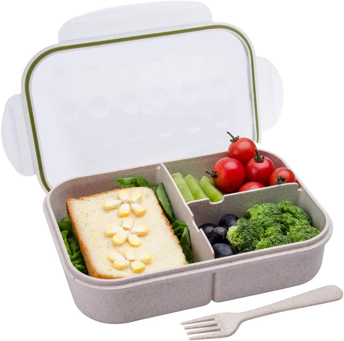Itopor Leakproof 3-Compartment Bento Lunch Box For Girls
