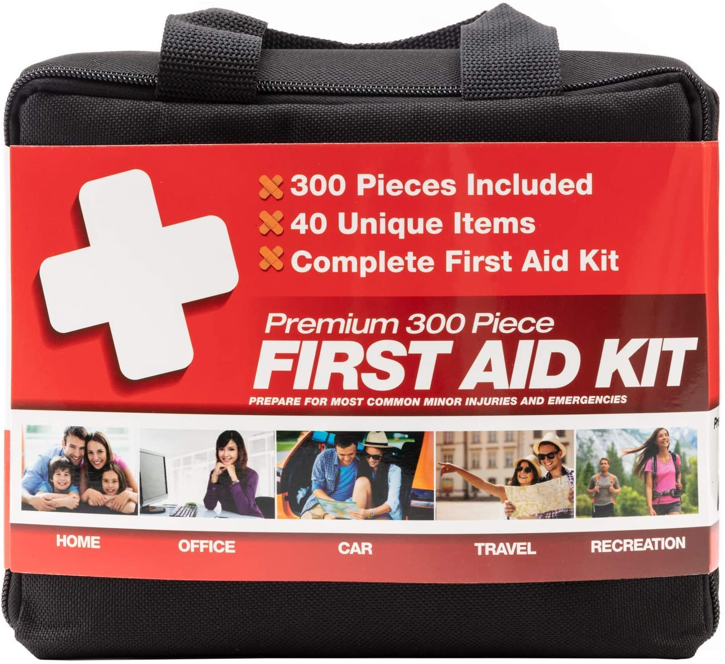 M2 BASICS First Aid Kit With Bag, 300 Piece