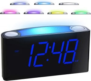 Mesqool 7 Color Alarm Clock & Night Light