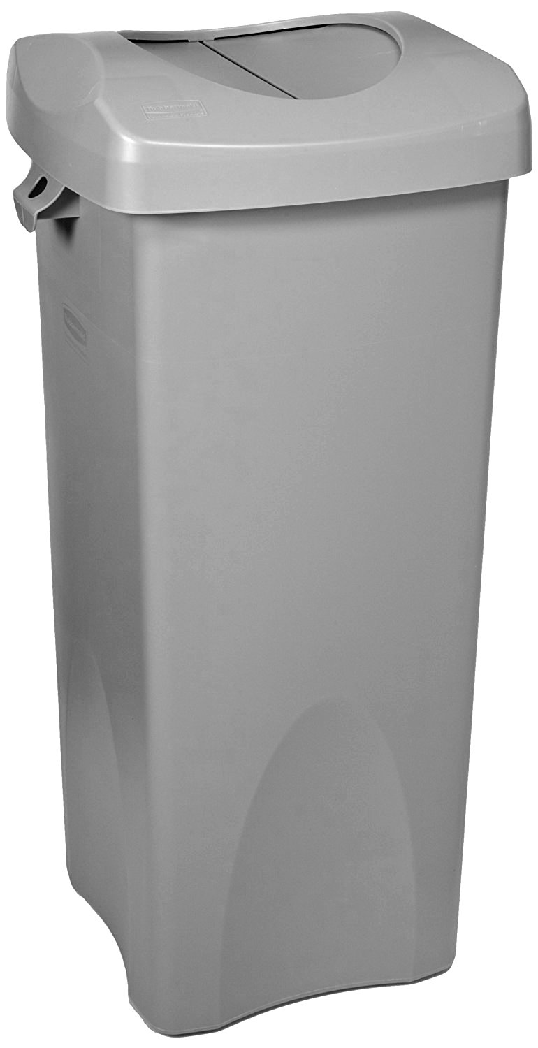 Rubbermaid Untouchable Square Garbage Can, 23-Gallon