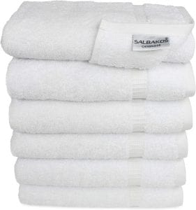 SALBAKOS Cotton Hand Towels 6 Pack