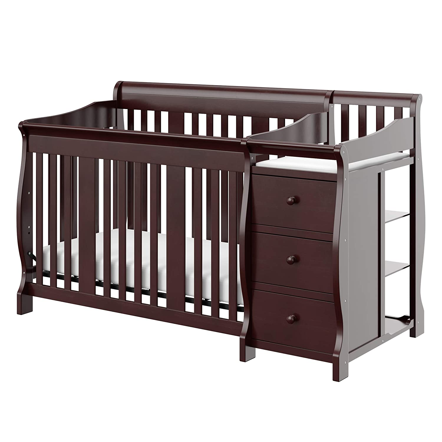 Storkcraft Portofino 4-In-1 Fixed Side Convertible Crib & Changer