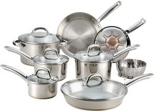 T-fal C836SD Ultimate Copper Bottom Set, 13-Piece