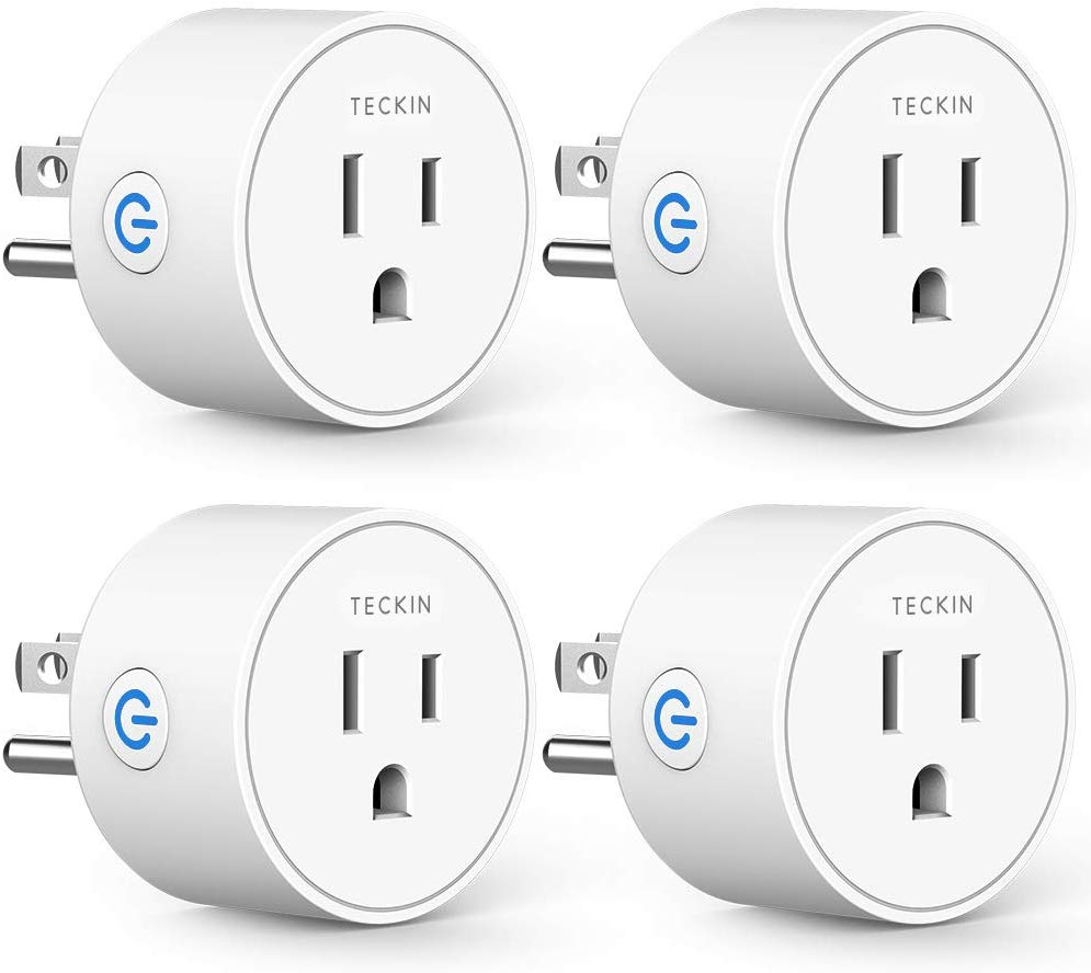 T TECKIN Alexa Compatible Smart Plug, 4-Pack