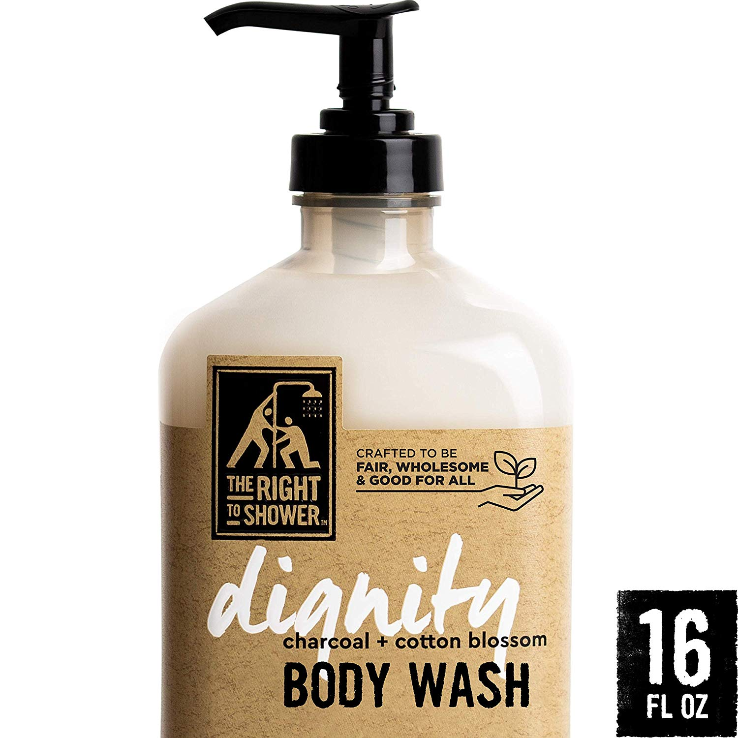 The Right to Shower Body Wash, Charcoal Cotton Blossom