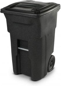 Toter 25564-R1209 Residential Heavy Duty Two Wheeled Trash Can