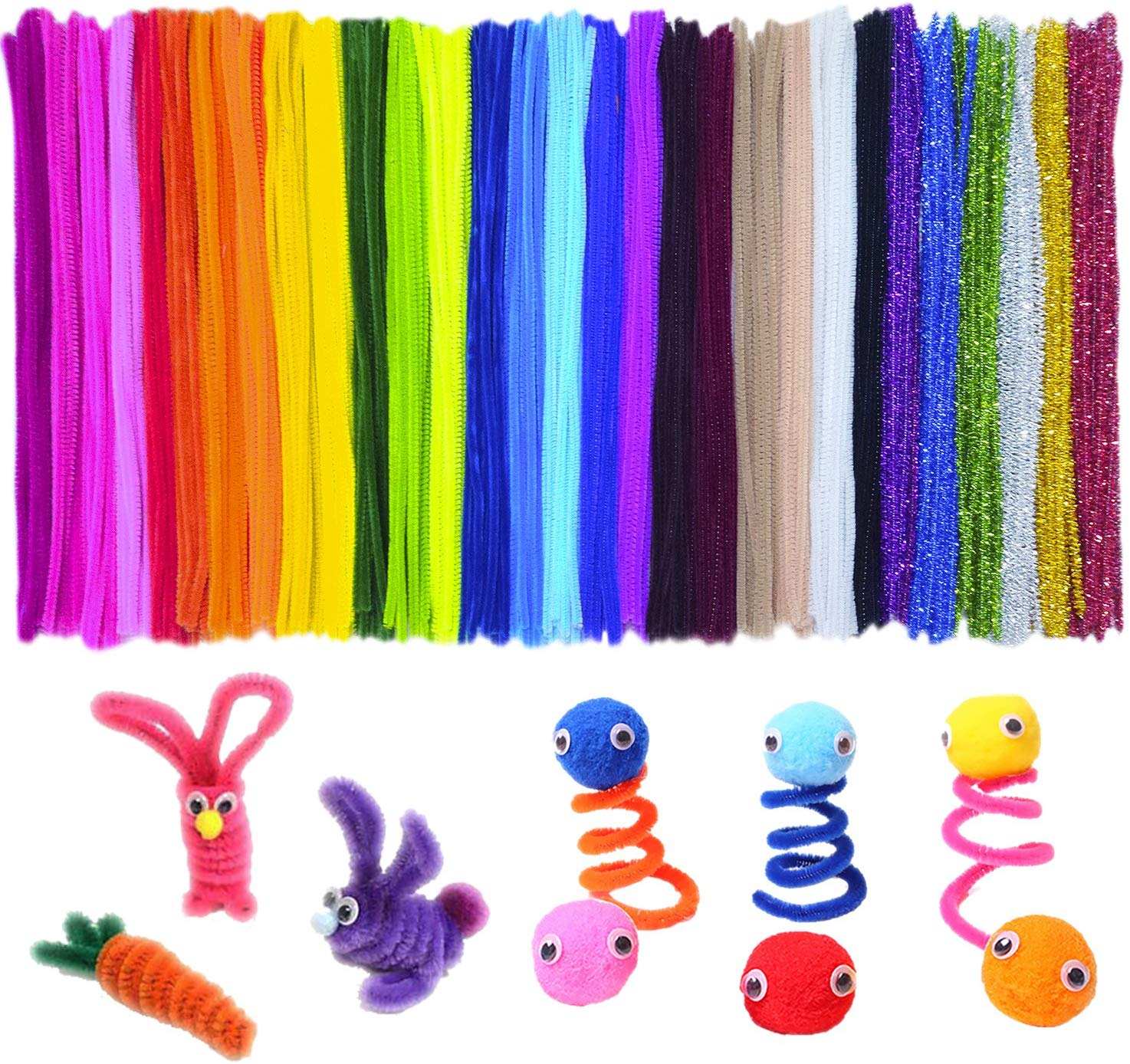 Acerich 30 Colors Pipe Cleaners, 600-Count