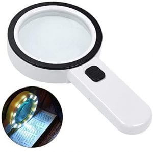 AIXPI Large Magnifying Glass with Light