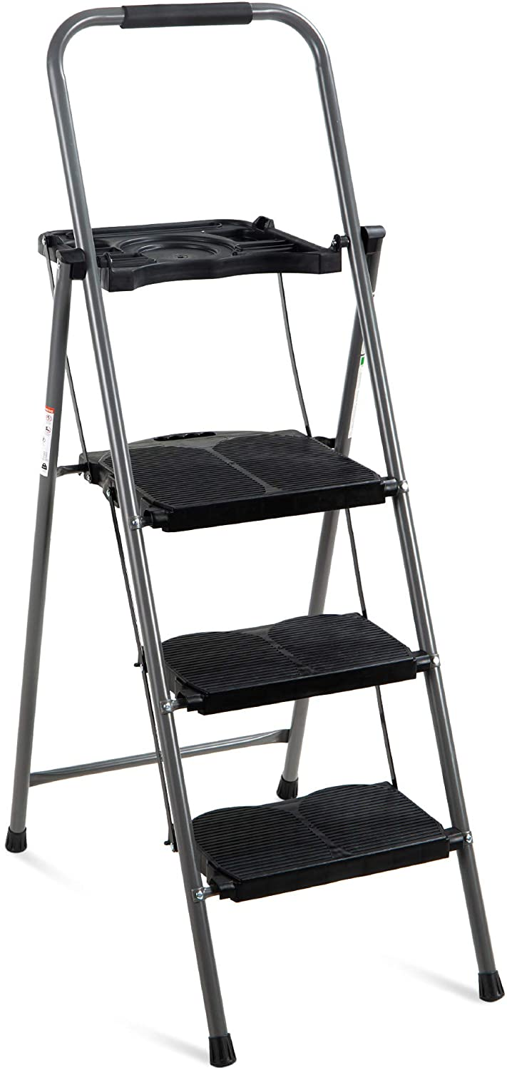 Best Choice Products Folding Ladder, 3-Step